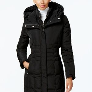 Calvin Klein Black Hooded Puffer Coat NWT Sml Lrg